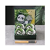 HAOYUXIN Vajilla de Panda, Cuenco de arroz de cerámica de Estilo...