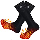 2020 Upgraded Rechargeable Electric Heated Socks,7.4V 2200mAh Battery Powered Cold Weather Heat Socks