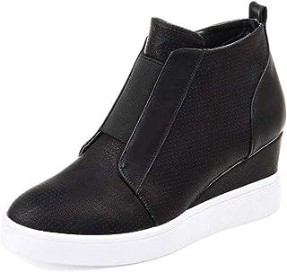 daf9198986c0dc Minetom Femme Sneaker Mode Baskets en Mesh Respirant Chaussures Plates Mode  Automne Hiver Talon Compensé Plateforme