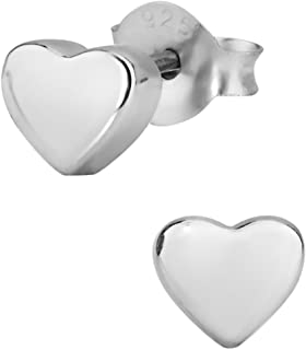 Hypoallergenic Sterling Silver Little Heart Stud Earrings for Kids (Nickel Free)