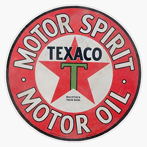 EMC Graphics Vintage Texaco Motor Spirit Logo Vinyl Waterproof Sticker Decal Car Laptop Wall Window Bumper Sticker 5'