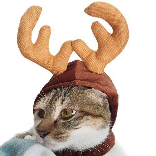Wildforlife Halloween Pet Cute Reindeer Costume Hat for Cat...