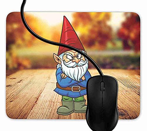 Mauspad Gartenzwerg Mürrisch Rutschfeste Gummi Basis Mouse pad, Gaming mauspad für Laptop, Computer 1F3244