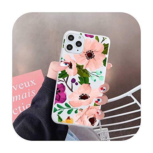 Flor diseño de moda patrón de lujo teléfono caso caramelo color para iPhone 6 7 8 11 12 s mini pro X XS XR MAX Plus-a5-iPhoneXorXS