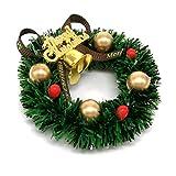 Thumbelin 1Pc Miniatur-Weihnachtsgirlande Puppenstuben Weihnachtsbaum-Dekoration Garland Kinderspiel...