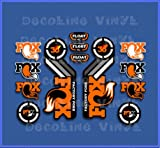 Ecoshirt NC-GPXY-LVQO Pegatinas Fork Fox Float 36 2015 Heritage Dp1087 Stickers Aufkleber Decals Autocollants Adesivi, Naranja