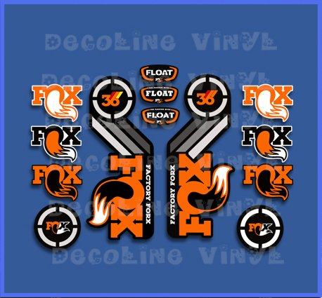 Pegatinas Fork Fox Float 36 2015 Heritage DP1087 Stickers AUFKLEBER Decals AUTOCOLLANTS ADESIVI