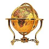 WHCQ Retro del Globo del Mundo, Interactivo Globos de educación para los niños Adornos Decoración Adult Home Office Desktop Globe con Base de Metal