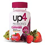 7. up4 Probiotic Gummies for Adults | Digestive and Immune Support | Gelatin-Free, Vegan, Non-GMO| with prebiotic and Vitamin C | 60 Count
