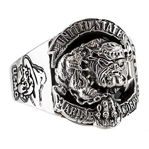 ジナブリング (JINA BRING) リング 指輪 シルバー925 ブルドック U.S.A アメリカ海兵隊 カレッジ ミリタリー メンズ レディース #21