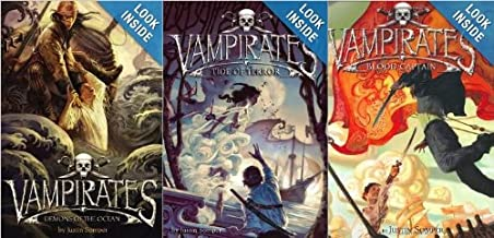 Vampirates 3 Book Set: Tide of Terror, Demons of the Ocean, Blood Captain - 1 - 3 [Paperback] Justin Somper (Vampirates)