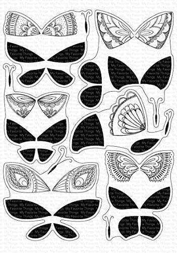 MY FAVORITE THINGS MFT Clear Stamps BRIL BFLYS, Brilliant Butterflies