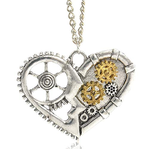 MORE ELEGANT OR SEXY: Are you a lady or a man of a crazy steampunk gear necklace lovers? It is the best choice to get this adorable steampunk gear pendant necklace. A refined, fashionable classic style, works with any apparel, let you more elegant an...