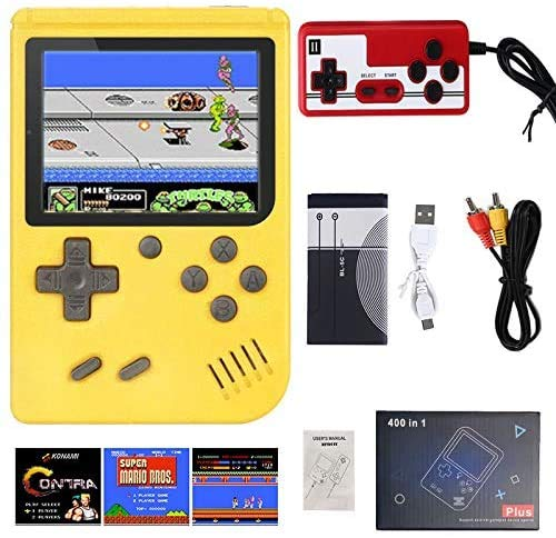 JIOJIO (Single or Two Player) 400 in 1 Mini Handheld Game Console - Retro...
