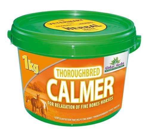Global Herbs Thoroughbred Calmant 1 Kilo - Pour relaxation d'amende os chevaux