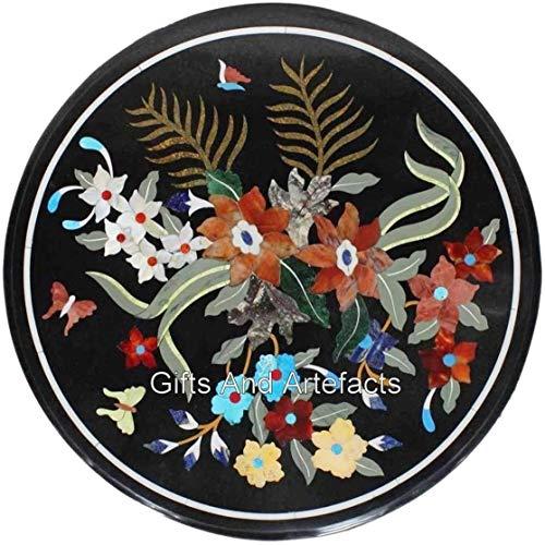 Cottage Handicrafts - Mesa auxiliar redonda de 40,6 cm con patrón floral