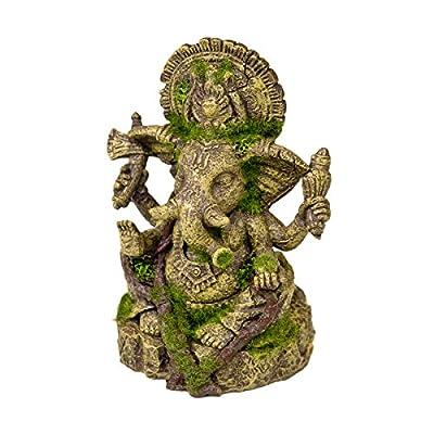Blue Ribbon 006159 Exotic Environments Ganesha Statue with Moss
