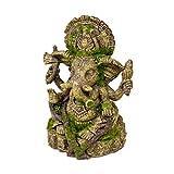 Rosewood Polyresin Moss Covered Statue of Ganesha Aquarium Ornament