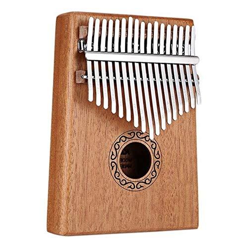 Kalimba, Daumenklavier 17 Keys Kalimba Daumenklavier Finger Keyboard Klavier Musikinstrument Spielzeug mit Tune-Hammer And Music Book (Color : Mahogany Color)