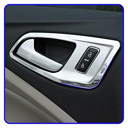 Keep it simple Un pequeño Cambio 4pcs / Set Chrome Interior Manija Interior con Adornos de Puerta Interior Decoración de la Puerta Etiqueta engomada de Ajuste para Ford Kuga Escape 2013-2017