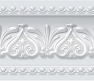 Royal Tulip Peel and Stick Wall Border Easy to Apply (Neutral Gray)