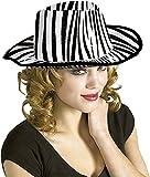 Rubies - Sombrero de cowboy cebra, para adultos, talla única, color blanco (S5286)...