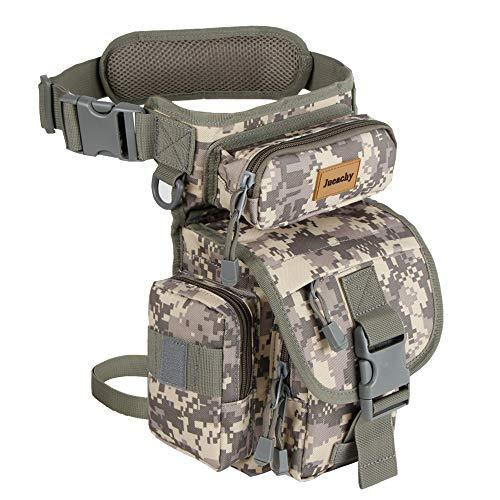 Jueachy Drop Leg Bag for Men Metal Detecting Pouch Tactical Military Thigh Waist Pack