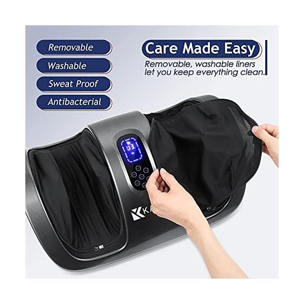 Kanff Shiatsu Foot Massager Machine w/ Remote & Heat, Deep Kneading Calf Massage, Leg Massager Promote Circulation, Ease…
