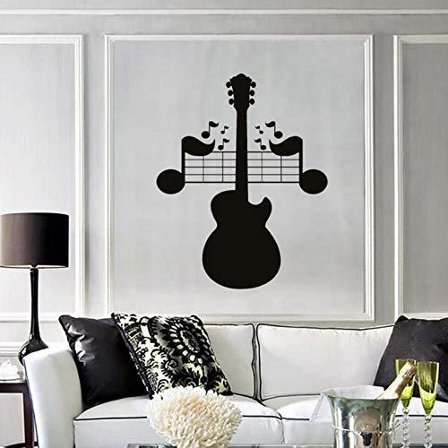 Muurstickers Decal Muursticker Gitaar Opmerkingen Muziek Rock Pop Liedjes Mural Slaapkamer Woonkamer Muziek Kamer Concert Interieur Decor Vinyl Muursticker