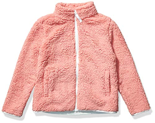 Amazon Essentials Girl's Polar Fleece Lined Sherpa Full-Zip Jacket, Mauve, Small