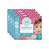 The Honest Company Baby Diapers with True Absorb Technology, Holiday Trimmings, Size 3, 108 Count
