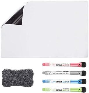 Tableau Blanc Magnétique A3+pour Frigo-AntiTaches,Tableau Mémo Aimanté pour Planning Semaine Cuisine et Notes de Bureau,Ta...