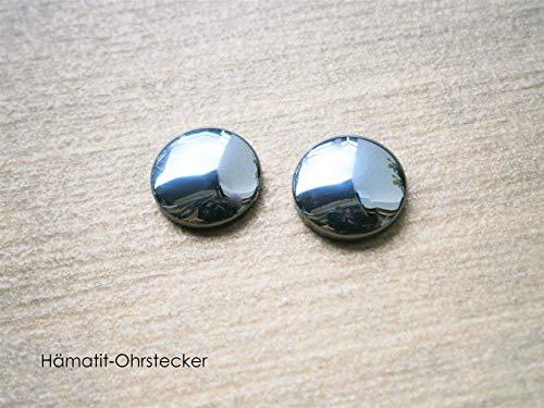 Ohrstecker Hämatit Ohrringe schwarz Edelstein
