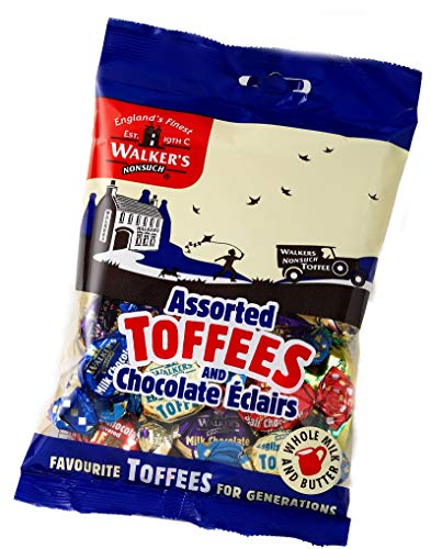 Walkers Nonsuch Assorted Toffees & Chocolate Eclairs 150g