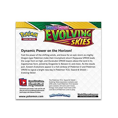 Pokemon Sword and Shield Evolving Skies Booster Display Box - 36 Packs of 10 Cards