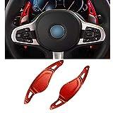 NAWQK Dirección Rueda de Paleta Shifter Gear Shift Shifter Extensión Fit for BMW 3 5 6 7 X3 X4 X5, G20 G30 G31 G32 G12 G01 G02 G05 (Color : Rojo)