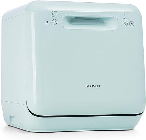 KLARSTEIN Aquatica - Mini lave-vaisselle de table, CEE A, 125 kWh/an, 2 couverts, indépendant, sans installation, lav...