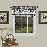 "Achim Home Furnishings Barnyard Window Curtain Valance, 58"" x 14"", Black"