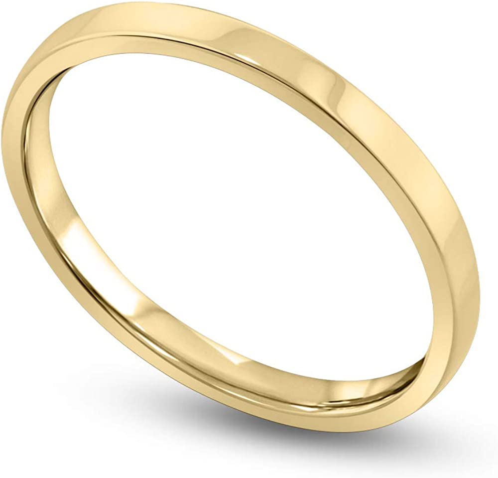 Ranking TOP14 Danforth High quality new 14K White and Yellow Gold 2MM Classic Band Flat Wedding
