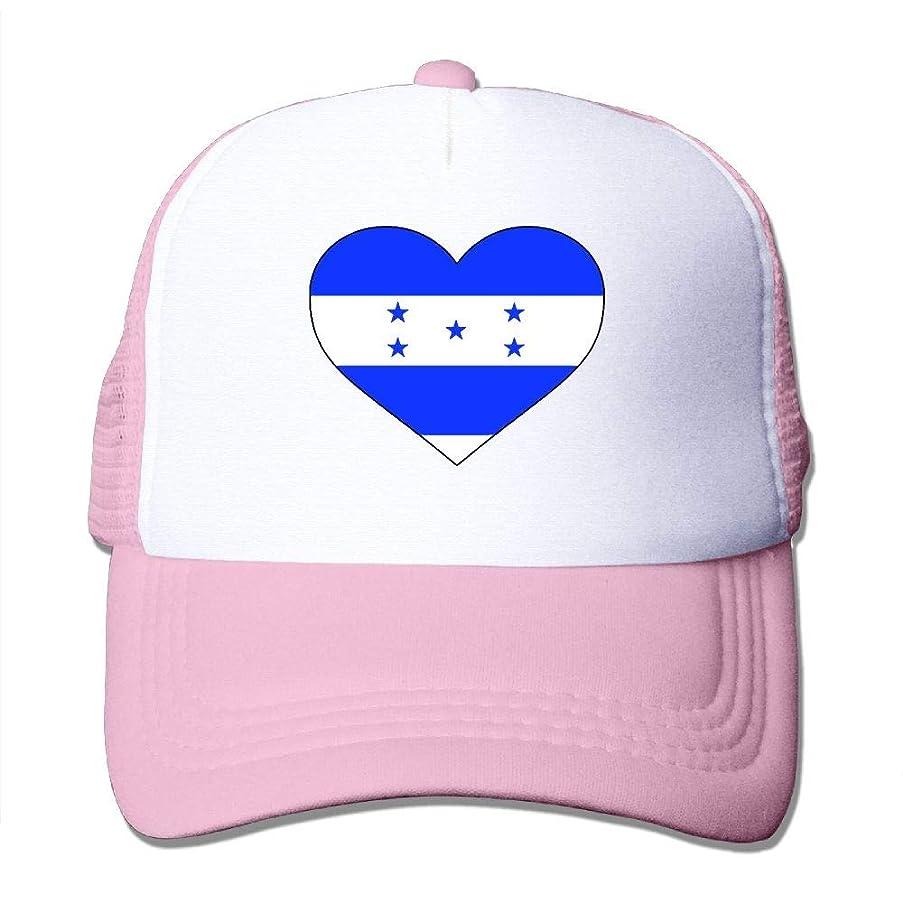 Guwafa8 Honduras Heart Shaped Flag Adjustable Mesh Trucker Baseball Cap Dad Hat for Men Women