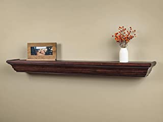 Mantels Direct Colton 72-Inch Fireplace Mantel Shelf, Chocolate
