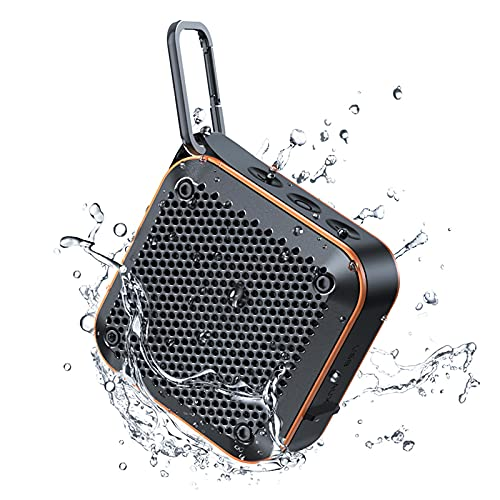 LEHII Outdoor Portable Wireless Speaker IPX7 Waterproof Shower Bluetooth Speaker Support TF Card Auxiliary FM Radio Hook Outdoor Travel Swimming Pool Beach Bike Office 8 Hours Play Time