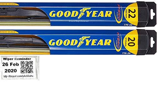 Hybrid - Windshield Wiper Blade Set/Kit/Bundle for 2005-2019 Ford Mustang - Driver & Passenger Blades & Reminder Sticker