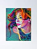 AZSTEEL Mylène Farmer - Variety Artist Poster No Frame Board for Office Decor, Best Gift Father, Mother, Daughter, Son and Your Friends 11.7 * 16.5 inch