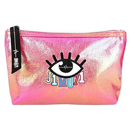 Depesche 10519 Kosmetiktasche, Lisa und Lena J1MO71, Holo pink, bunt
