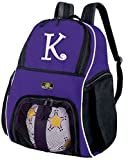 Personalized Soccer Backpack or Personalized Volleyball Bag Purple BROAD BAY
