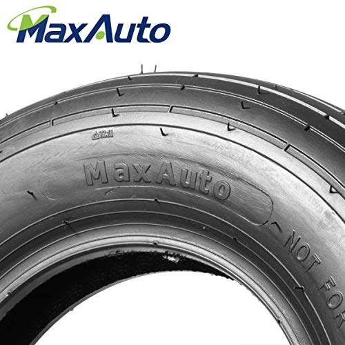 MaxAuto 4.80/4.00-8 Wheelbarrow Tire Universal Fit Mowers, Hand Trucks, Carts and More, Set of 2
