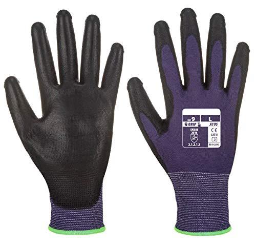 Workwear World WW519 - Guantes de seguridad con revestimiento de poliuretano para smartphone, tablet y pantalla táctil interactiva, 7/S, morado/negro, 1