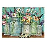 Kits de pintura de diamante para adultos Tarro de flores cuadrado completo taladro DIY diamante arte bordado pintura cuadros para decoración de pared del hogar 30 x 40 cm