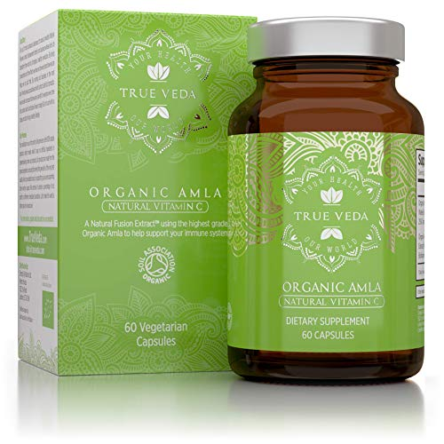 Amla Biologica Capsule Ricche di Vitamina C - Biologico Certificato EU   Potente Fonte Naturale di Vitamina C   Rafforza il Sistema Immunitario   Ayurveda   Vegan   60 Compresse Vegetariane